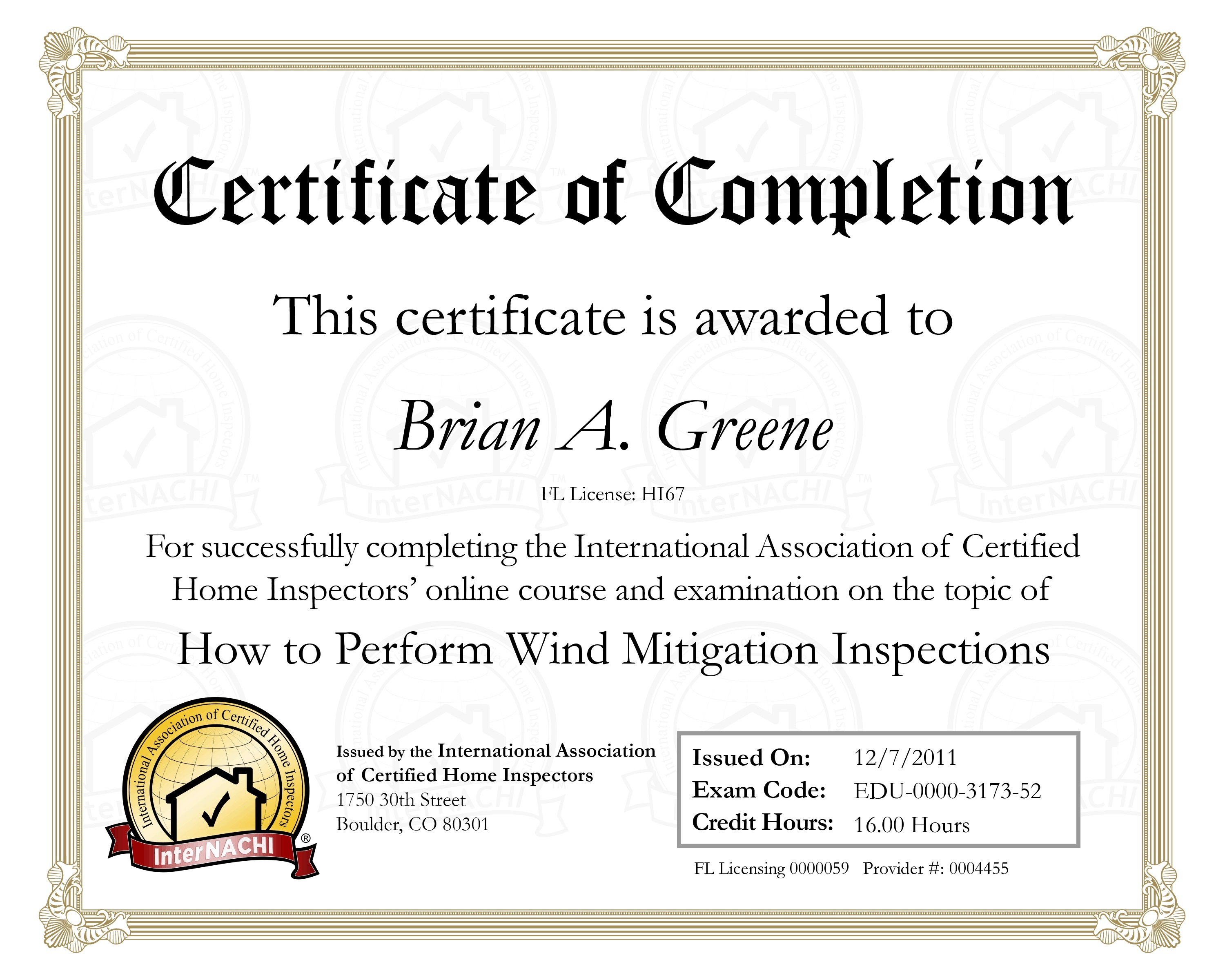 Wind mitigation certificate home inspection jacksonville fl wind mitigation certificate 1betcityfo Choice Image